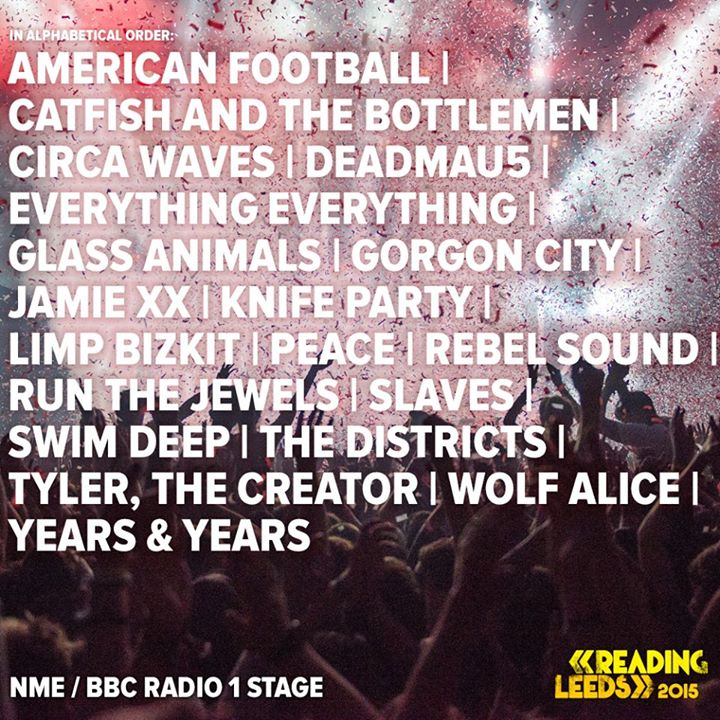 Here's the line-up for the NME/BBC Radio 1 stage so far… who are you most look…