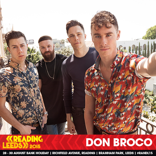Just announced! Don Broco perform on the NME/BBC Radio 1 Stage on Friday 28th Au…