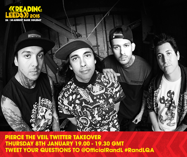 Pierce The Veil takeover our Twitter tomorrow from 7pm. Follow us and use  #Rand…
