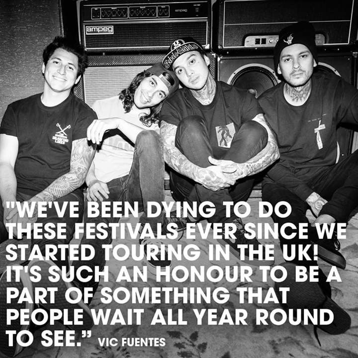 Pierce The Veil's Vic Fuentes on playing Reading and Leeds. …
