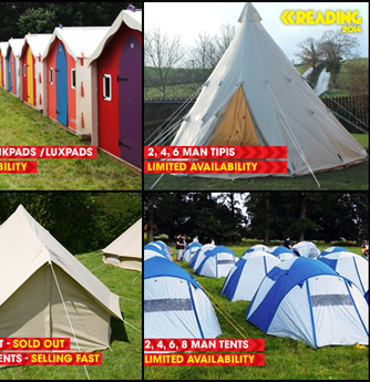 READING FESTIVAL NEWS: Accommodation Packages