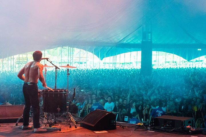 Slaves view from the BBC Radio 1/NME stage