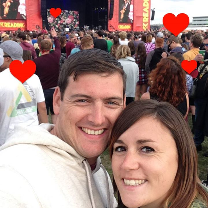 The couple that got engaged during Blink 182's set last year. Aww. Happy Valenti…