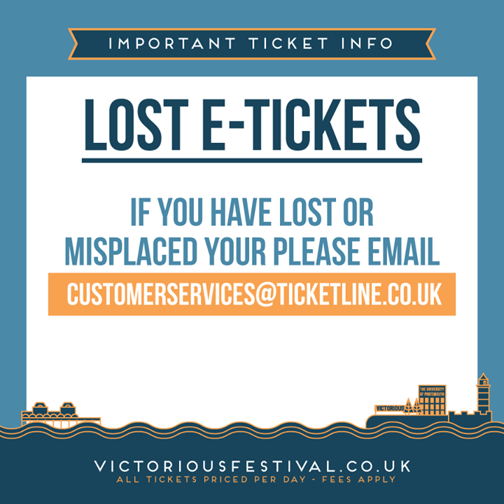 Victorious Festival news: If you purchased e-tickets the