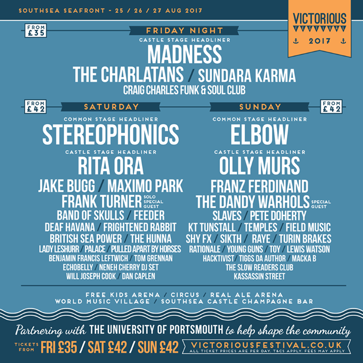 Victorious Festival news: Monday is fast approaching which means another week of work ahead. But it also m…