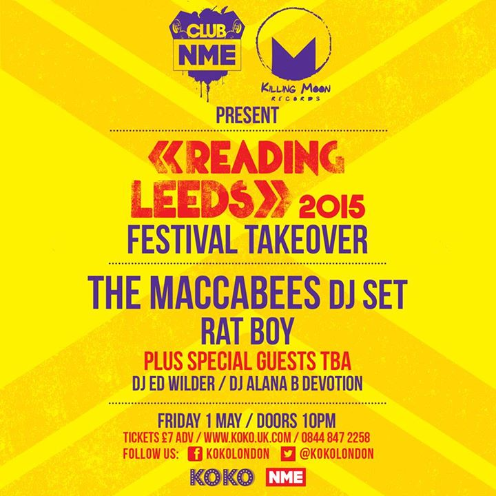We're taking over  KOKO London on Friday 1st May with Killing Moon and Club NME …