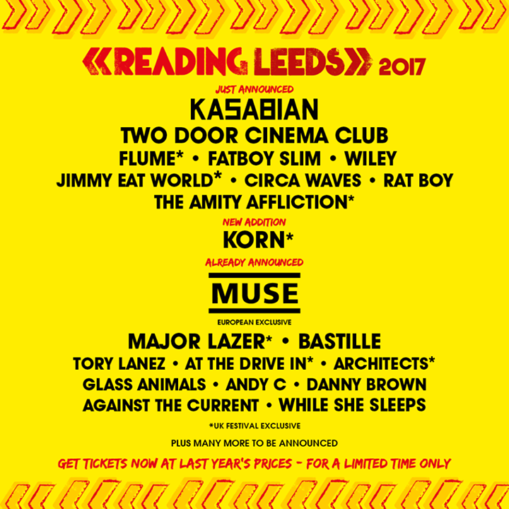 Your Reading '17 line up so far ️🤗 …