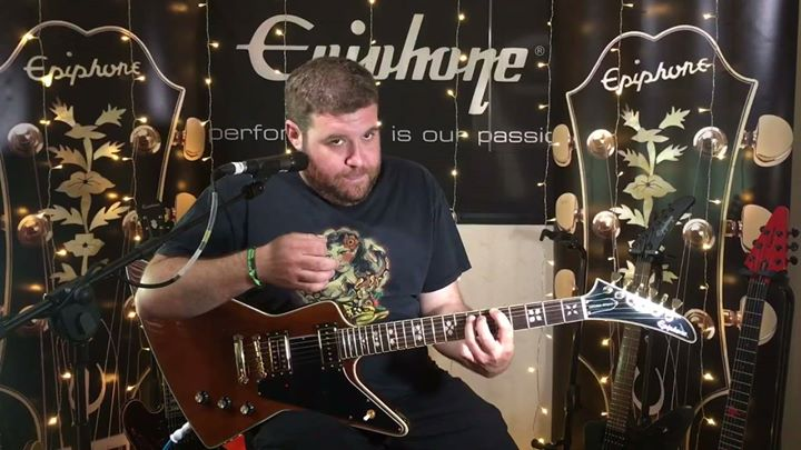 Bloodstock news: Epiphone SHRED CAM 🤘with Nate from LIONIZESHRED CAM: Nate from LIONIZE backstage…