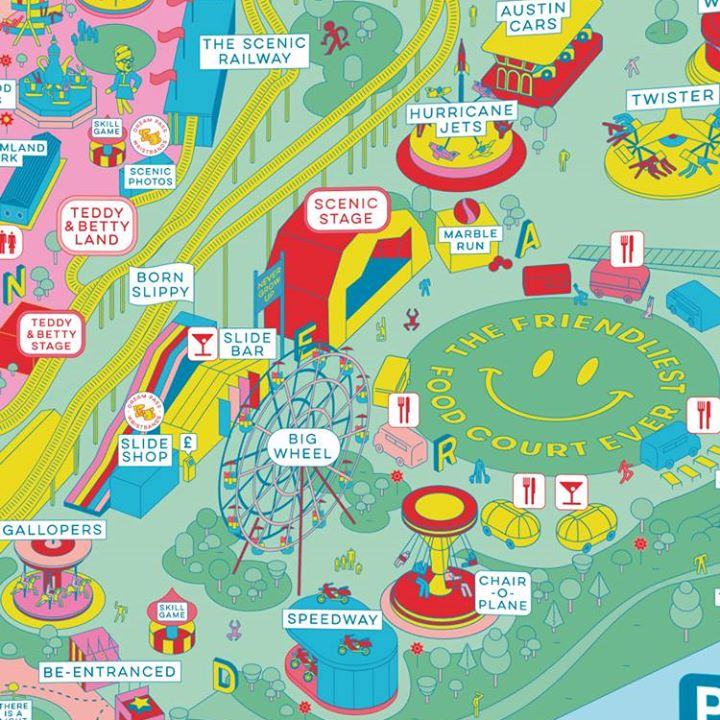 """By the Sea news: Studio Moross design """"weird and fun"""" relaunch campaign for Dreamland Margate • Inkygoodness"""
