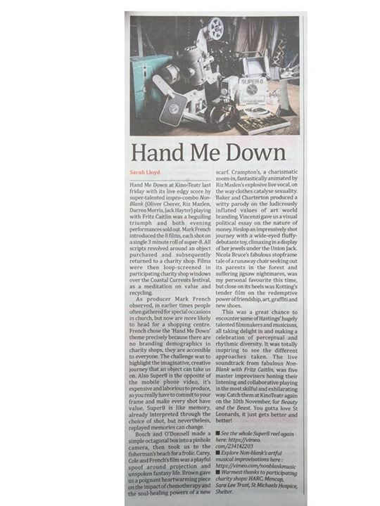 Coastal Currents news: Nice little write up about Hand Me Down!Nice little write up about Hand Me Down!