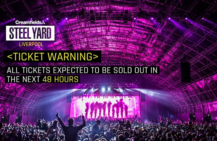 All tickets for this Saturday's Creamfields​ Steel Yard with Martin Garrix​ will...