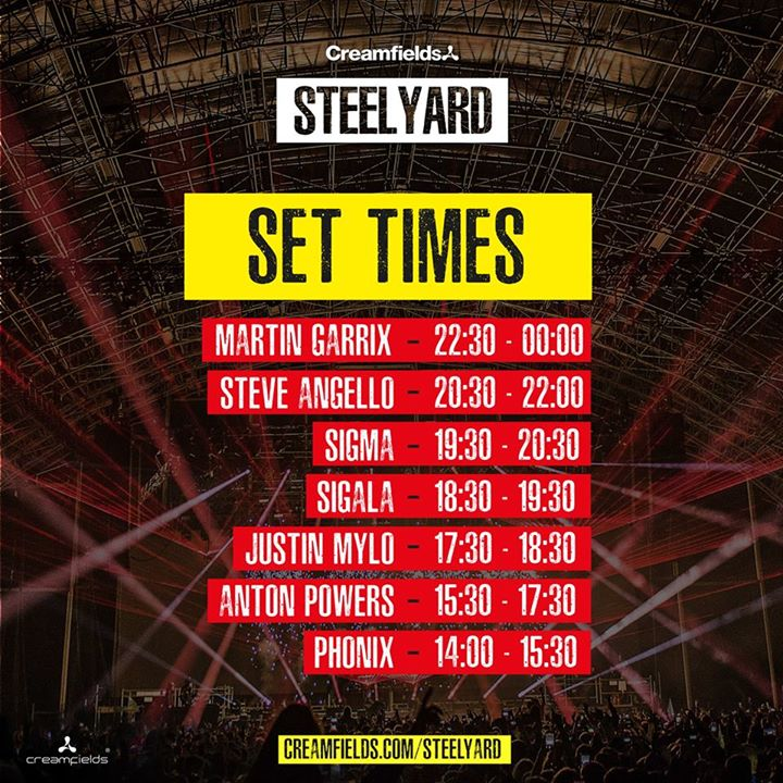 Set times for today! Gates open at 2pm & last entry is 7pm...