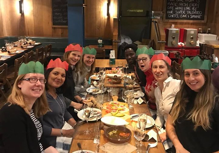 Dance Umbrella news: DU had a fab Christmas lunch Jamie's Italian Covent Garden today️