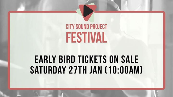City Sound Project is Changing…...