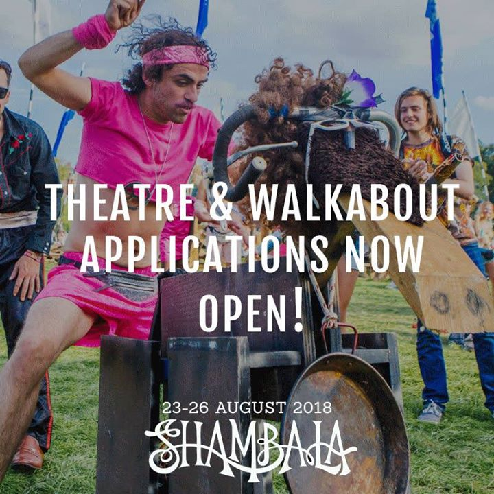 Shambala Festival news: Calling all circus heads, walkabout performers and street theatre superstars! If…