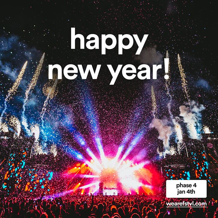 We are FSTVL news: Happy New Year!! Roll on 2018 and the best We Are FSTVL ever!! x