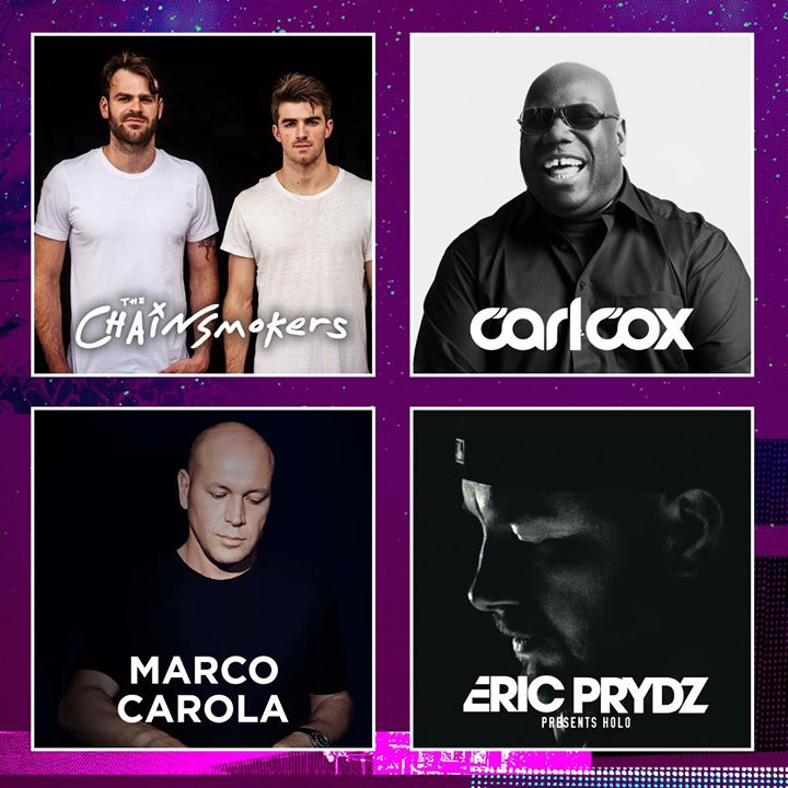 With The Chainsmokers, Carl Cox, Marco Carola and Eric Prydz – HOLO already anno...