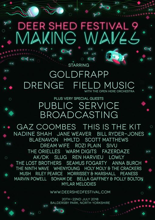 Gaze in wonderment at the  #DeerShed9 line-up, including today's additions Goldf...