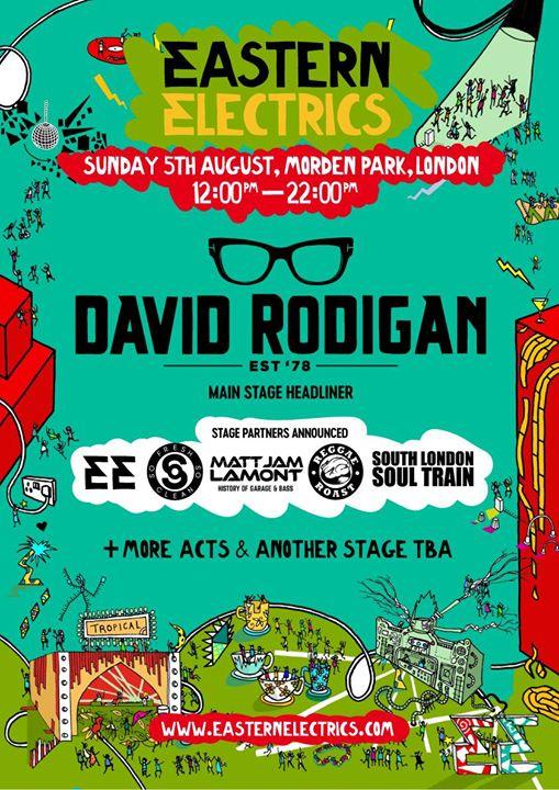 ️ David 'Ram Jam' Rodigan announced for Eastern Electrics Sunday, alongside some...