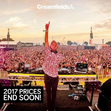 Creamfields news : 2017 prices end soon