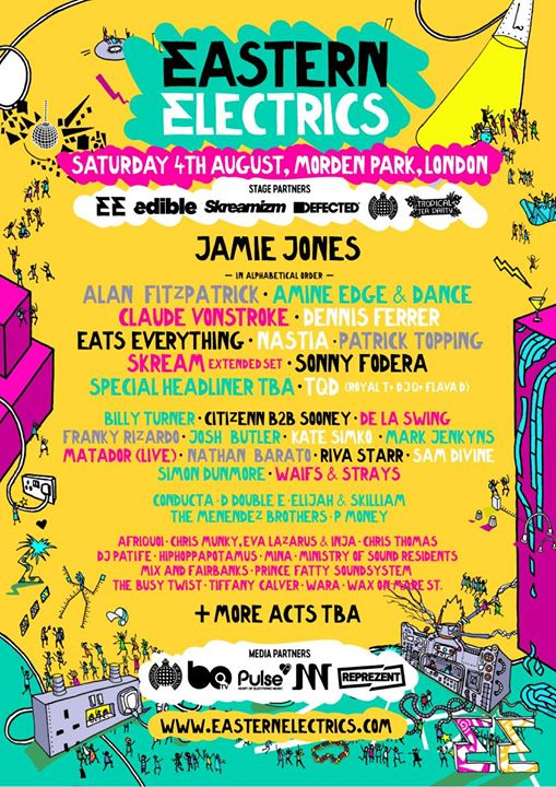 ️First wave line-up now live for Eastern Electrics Festival 2018 Saturday, and a...