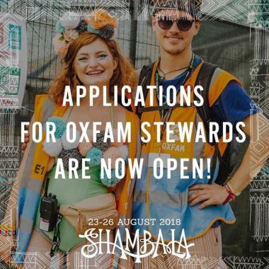 Shambala Festival news: Shambala 2018: Oxfam Stewards