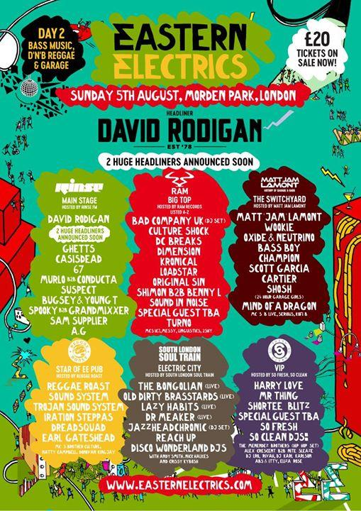 Sunday line-up has been unleashed...  Two HUGE headliners still to be revealed, ...