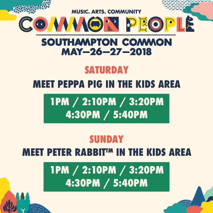 Common People (Southampton) news : We're ecstatic to announce meet & greet times with Peppa Pig on Saturday & Peter…