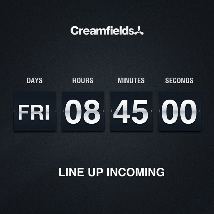 Just 24 hours to go! Who's ready?  #CreamfieldsLineUp
