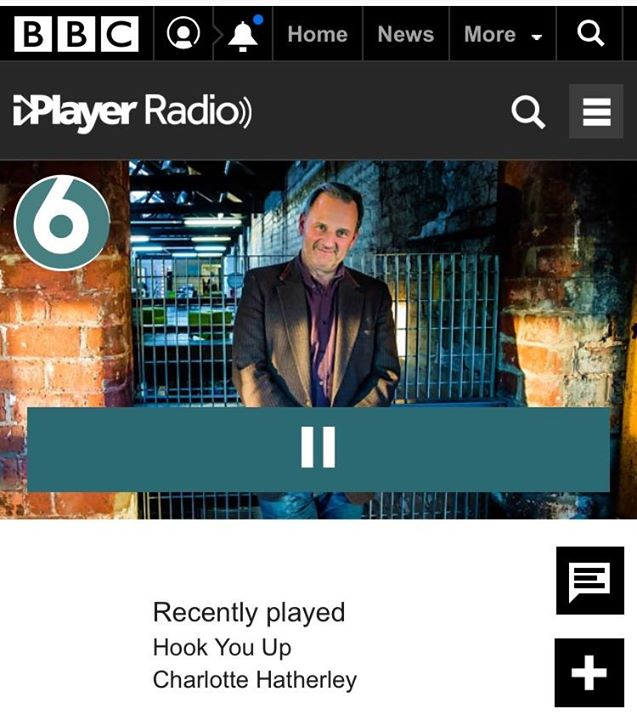 My new new single Hook You Up was played on 6 Music's Radcliffe and Maconie show...