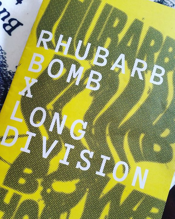 There's a new issue of Rhubarb Bomb out tomorrow. It's a Long Division special a...