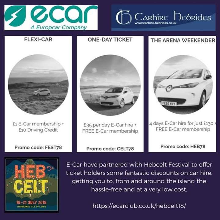 Check out the great offers on from E-Car Club with Car Hire Hebrides for  #HebCe...