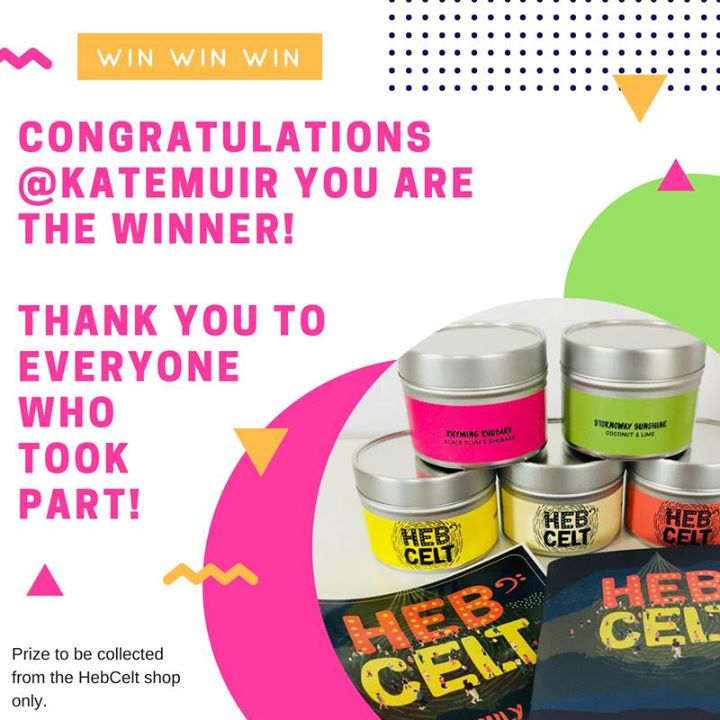 Hebcelt news : Congratulations Kate Muir! You are the winner of our