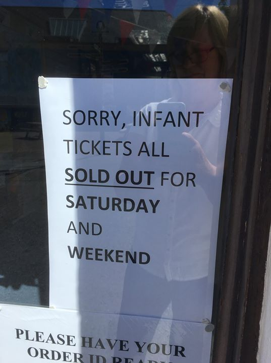 **UPDATE**Sorry folks, all free tickets for Infants for Friday and Saturday and ...