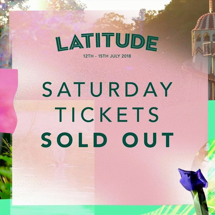 Saturday Day Tickets Sold Out