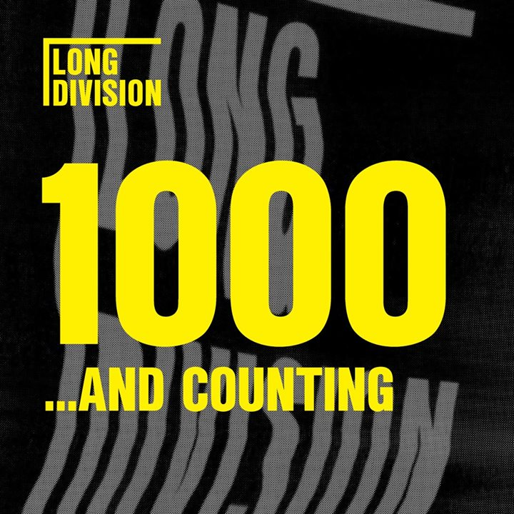 It's official... this is the fastest selling Long Division yet. Over 1000 ticket...