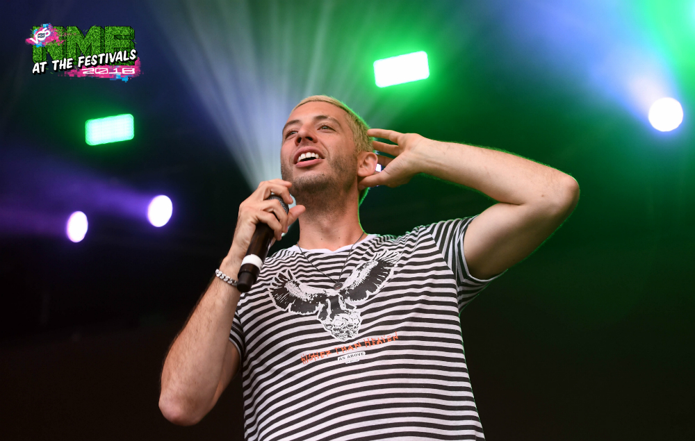 """NME Festival blog: """"Thumb-erlievable banter"""" – Example gives fan backstage tickets to RiZE Festival as an apology for insulting his looks"""