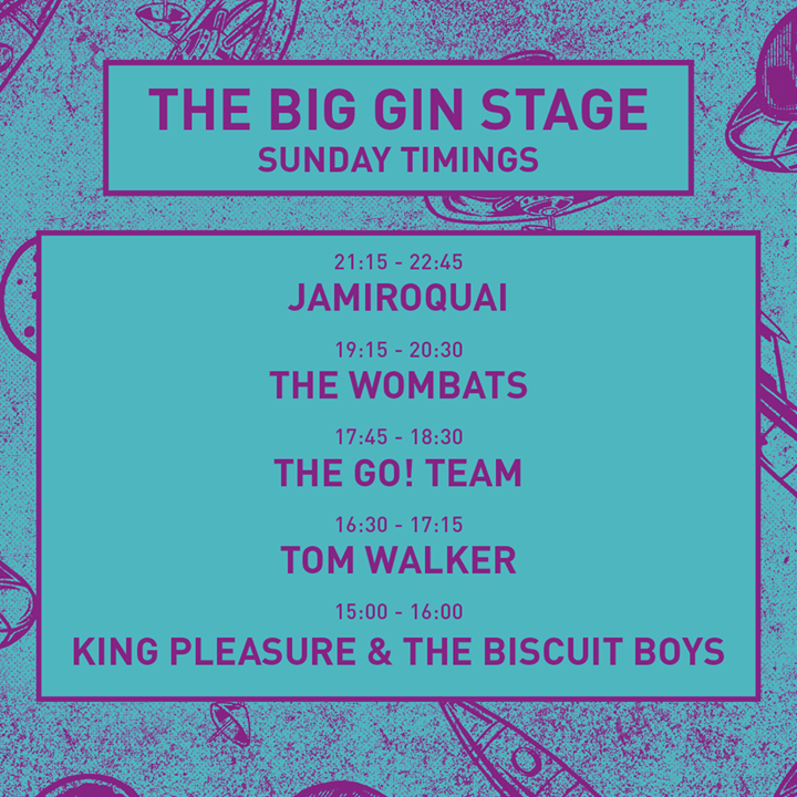Important: NEW SUNDAY MAIN STAGE TIMES!