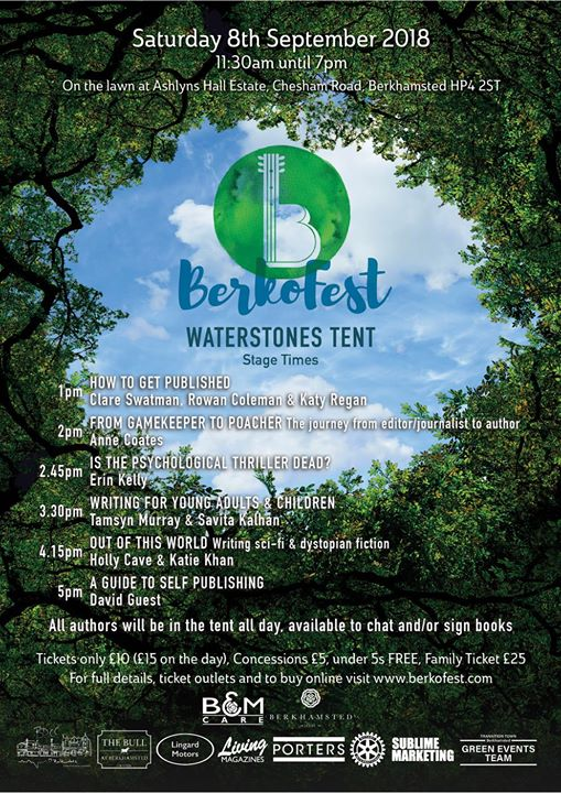 BerkoFest news: Excited to announce our stage times for the Waterstones Literature tent at Berko…