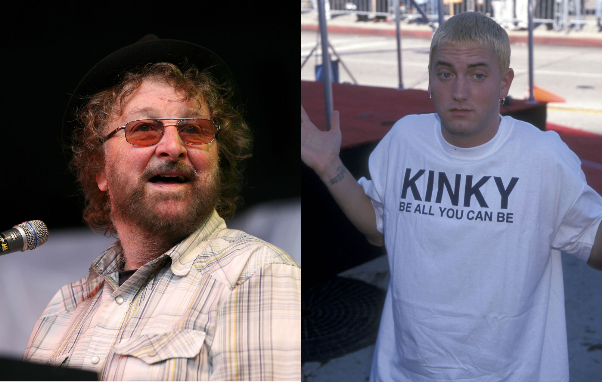 NME Festival blog: Chas Hodges of Chas & Dave played guitar on Eminem's 'My Name Is'