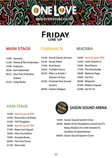 One Love Festival news: We busy on Site Build creating an amazing Reggae World for you all to Immerse yo…