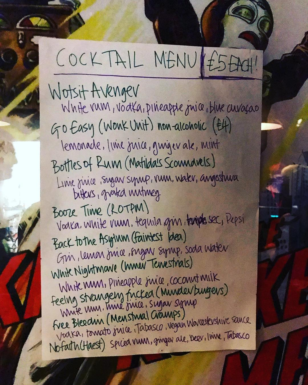 Wotsit Called Fest news: Cocktails  #wotsit2018 #wotsitcalledfest