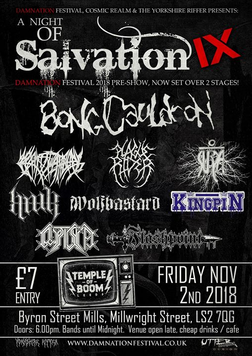 Damnation Festival warm up / A Night Of Salvation / 9 bands