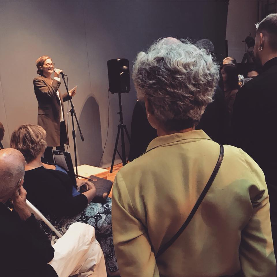 Dance Umbrella news: Artistic Director Emma Gladstone introducing this year's festival at our launch …
