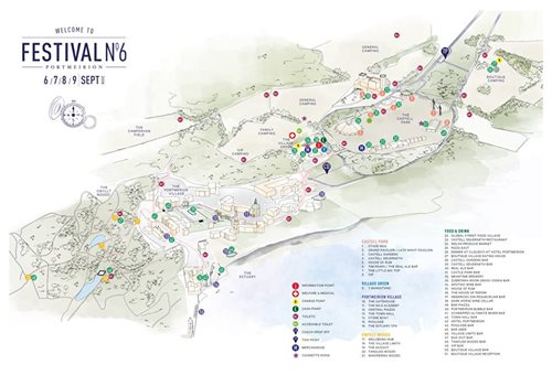 Festival No 6 festival news : The official Festival No.6 2018 map is available to explore, discover and downlo…