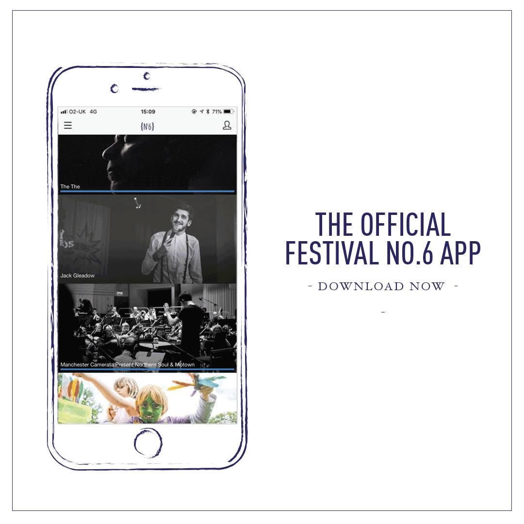 Festival No 6 festival news : The official No.6 Mobile App is now available to download for free on Apple and …