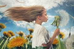 Image may contain: one or more people, cloud, sky, flower and outdoor