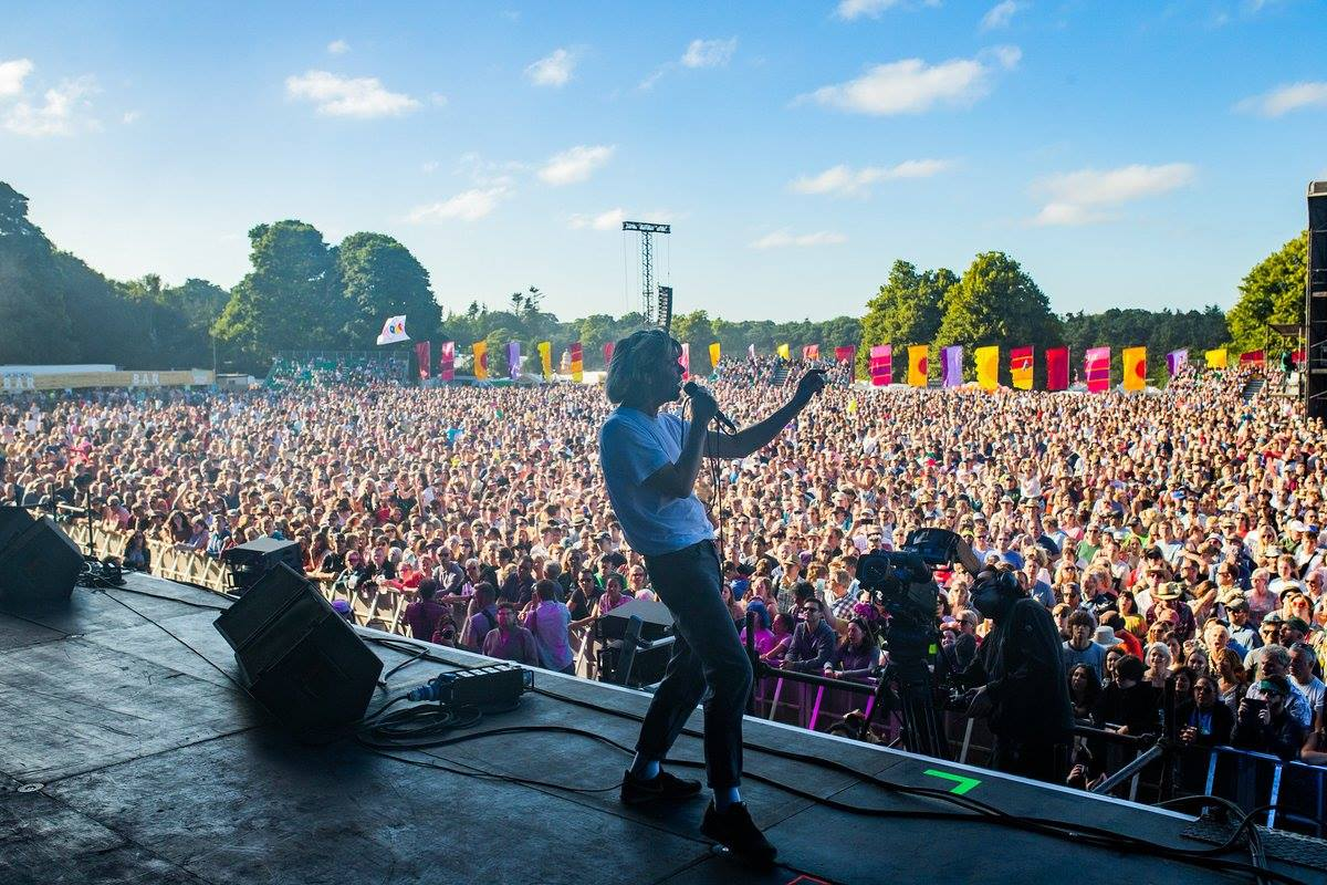The Charlatans on the Obelisk Arena Stage at Latitude Festival earlier this year...