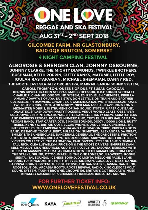 One Love Festival news: Big Competition with our Travel partners…