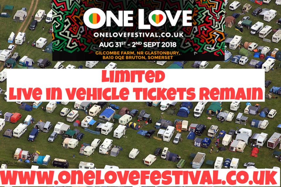 One Love Festival news: Live in Vehicle Tickets are in short supply. As they're becoming more popular, e…